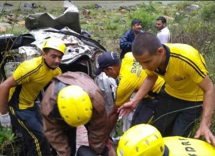 road accident at jageshwar dham marg two died