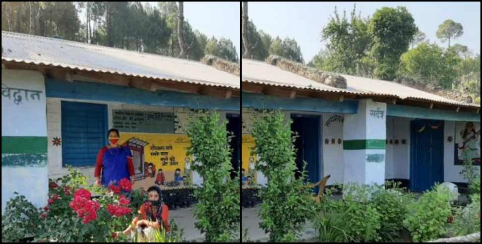Image: Migrant woman renovated village school during quarantine