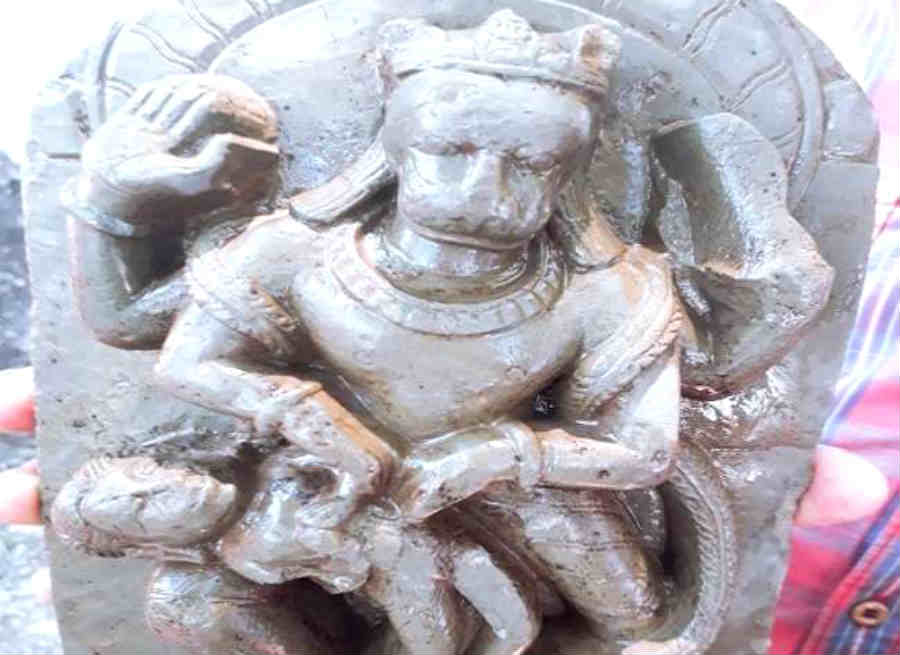 statue of narasimha found in construction of dharamsala pithoragarh