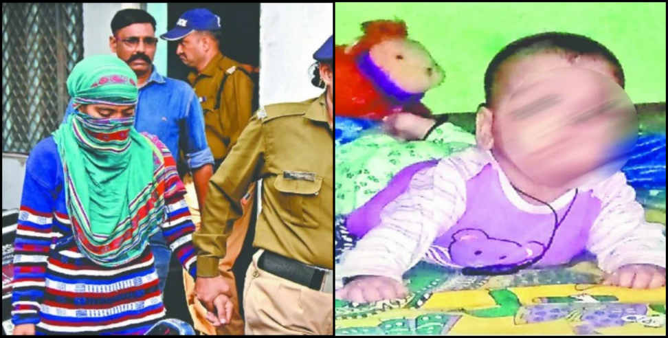 Image: Mother killed own six month old boy drown into ganga