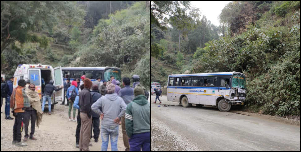 Image: Two buses collided in tehri