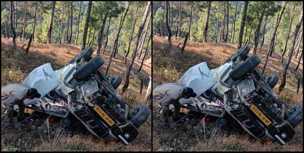 Image: Road accident in Almora