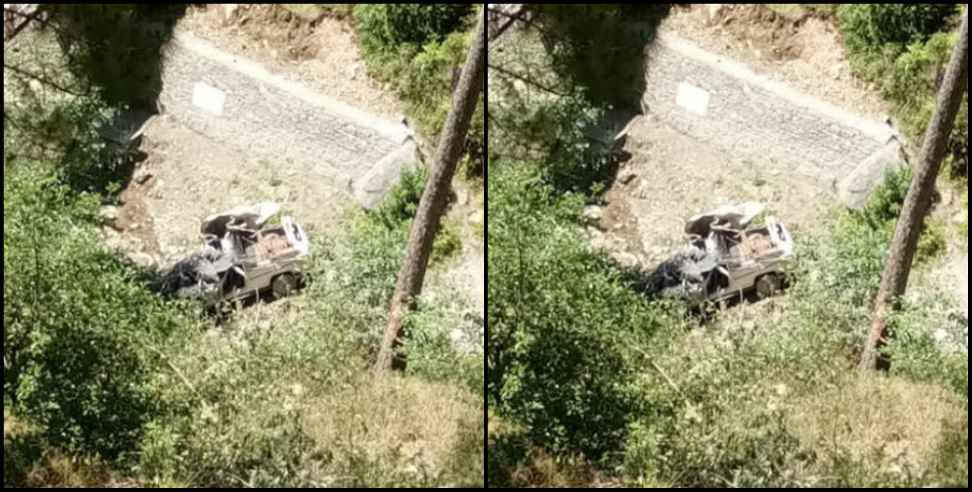 Image: Accident in chamoli 2 people injured