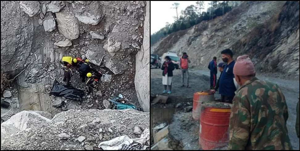 Image: The car fell into a ditch on the Rishikesh-Badrinath highway