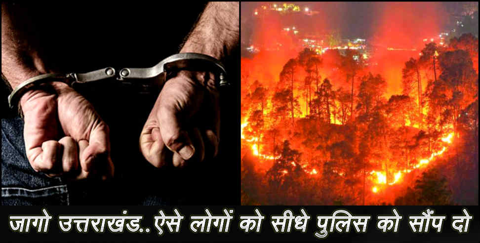 Image: fire in jungle of uttarakhand
