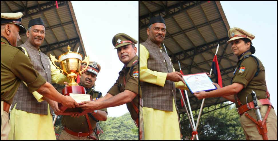 Image: cm trivendra on national unity day