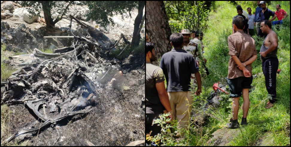 helicopter fall down in uttarkashi