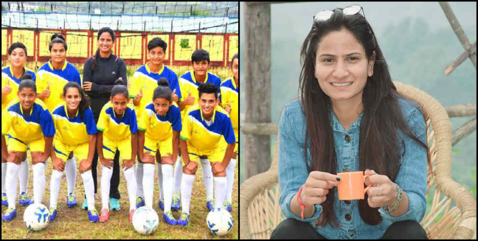 Image: Nidhi binjola give football training to girls