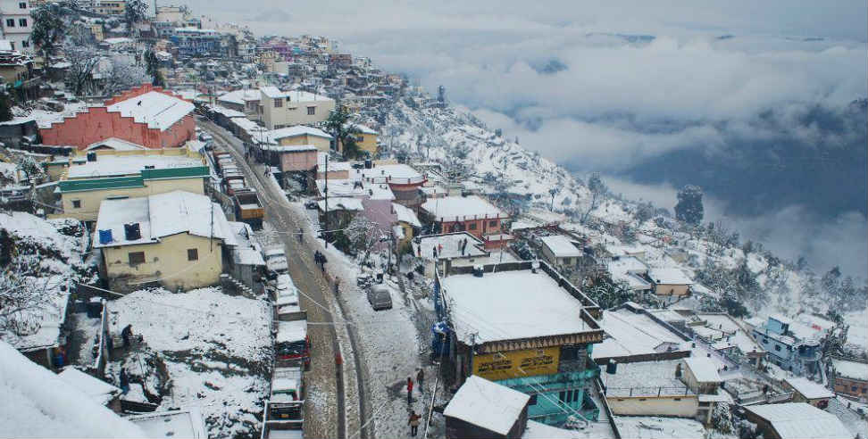Image: heavy snowfall alert for the next two days in uttarakhand