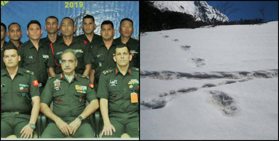 Image: indian army foud the sign of yeti