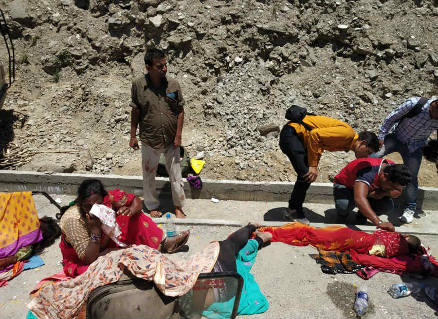 road accident at maletha UPDATE uttarakhand