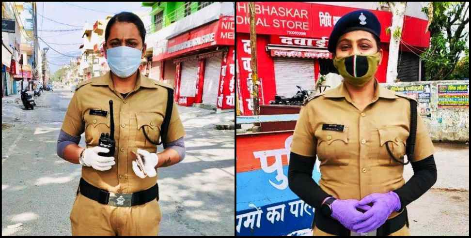 Image: haldwani Lady police constable ruchi serves her duty first over family