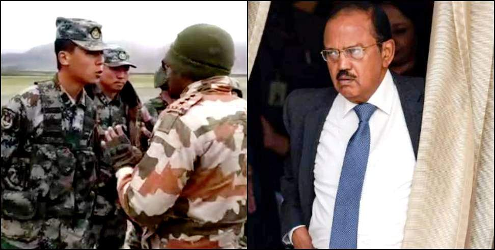 Image: NSA Ajit Doval talks on the chinese front