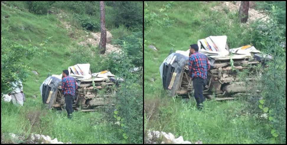 Image: Car falls in a ditch in Uttarkashi two people died