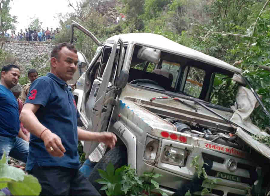 Road accident at kedarnath highway one died