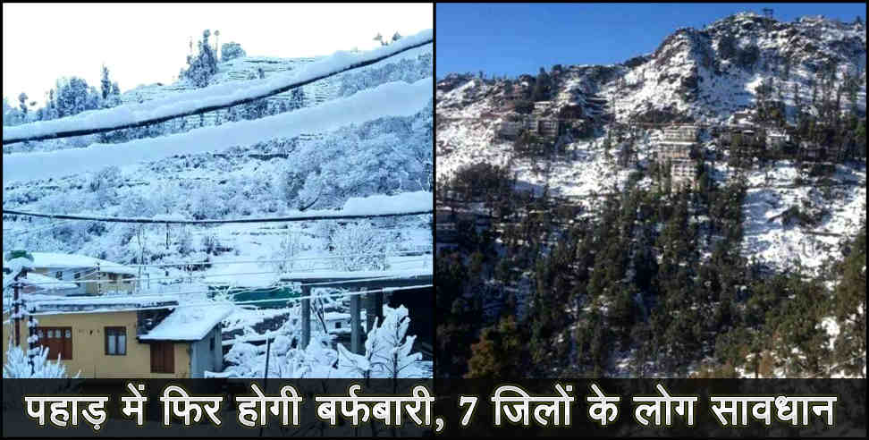 Image: snowfall and weather report of uttarakhand