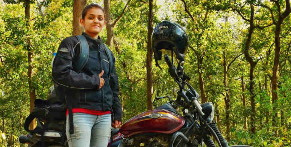 Chamoli girl sucheta sati ride bike at khardung la pass - Uttarakhand news, sucheta sati ,उत्तराखंड,
