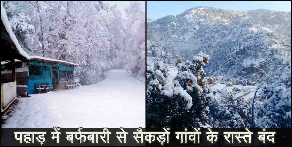 पिथौरागढ़: Snowfall and problem in uttarakhand
