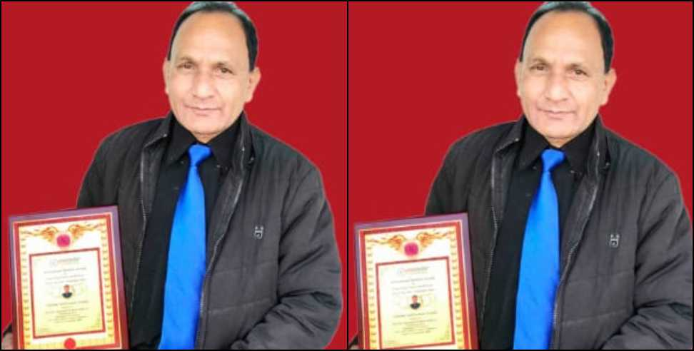 Image: Uttarakhand teacher prakash madhwal got international award