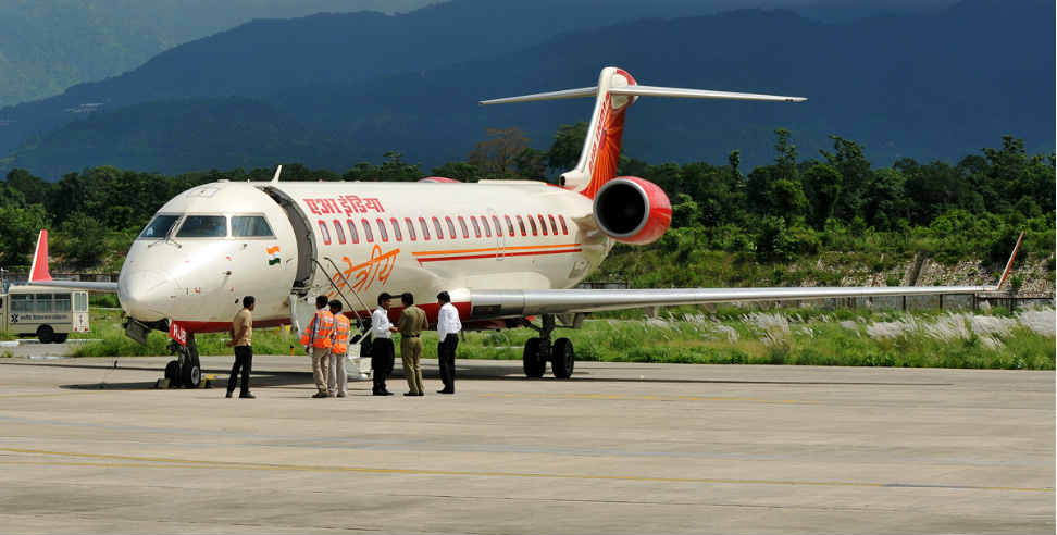 Returning aircraft from Delhi to Dehradun airport. - देहरादून एयरपोर्ट,उत्तराखंड, एयर इंडिया,Uttarakhand,Dehradun Airport,Air India, uttarakhand, uttarakhand news, latest news from uttarakhand