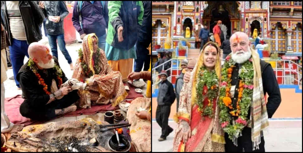 Image: Australian couple married in badrinath