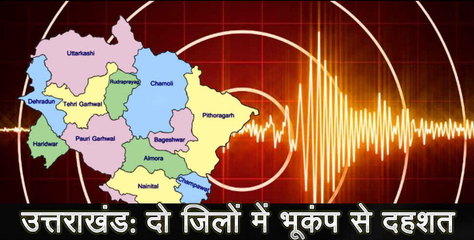 Earthquake in pithoragarh and bageshwar