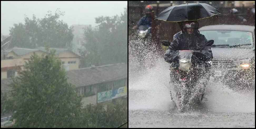 Image: Warning of heavy rains in three districts of uttarakhand