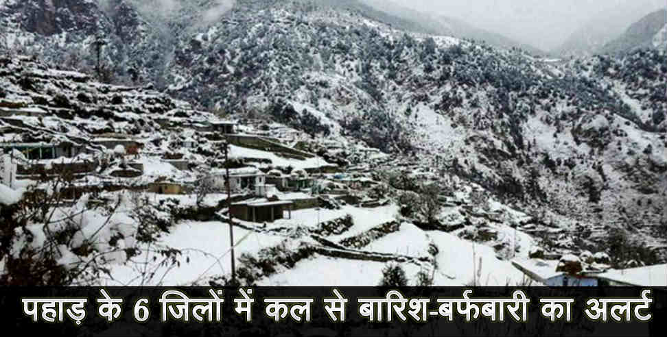 Image: Snow fall and rain forecast in uttarakhand