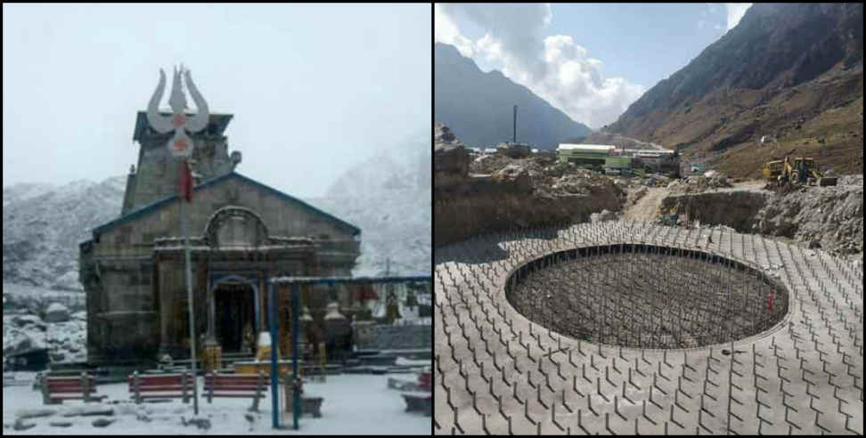 Image: Construction is going on in kedarnath even in winter