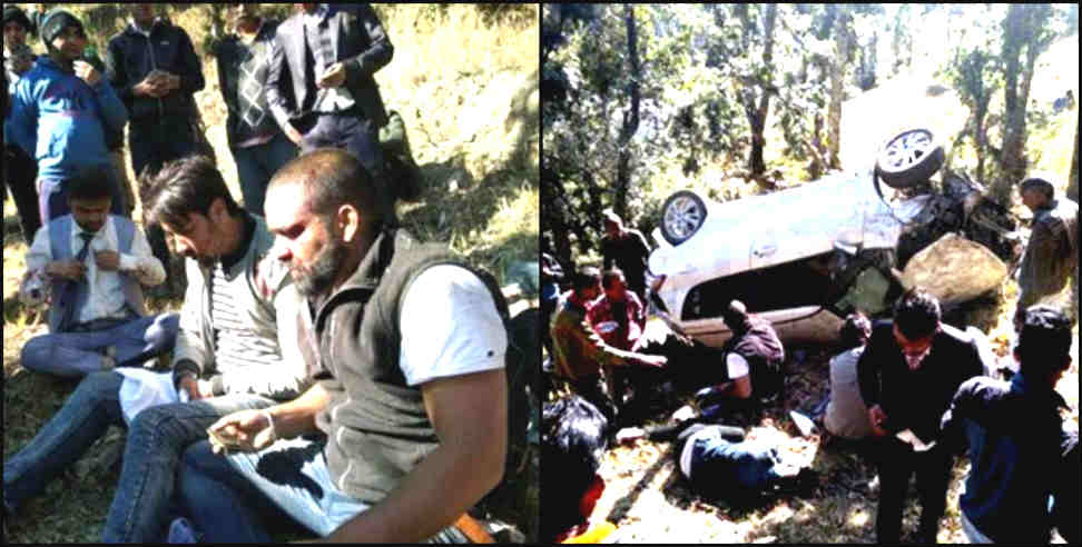 Image: road accident in nainital