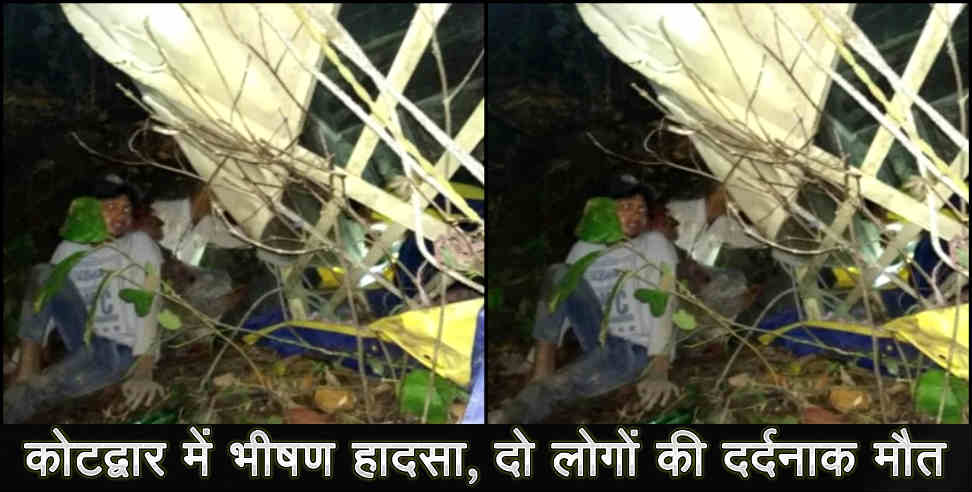 Image: truck accident at kotdwar two people died