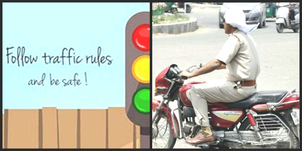 Image: Policemen who break traffic rules will not pay any hefty fine