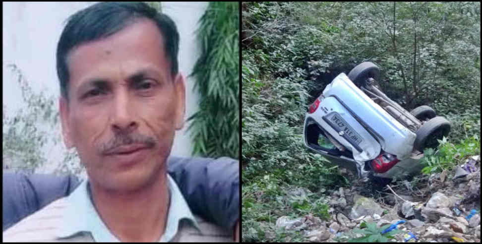 Image: Driver dead body and car found into deep ditch in champawat