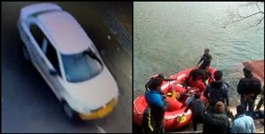 Uttarakhand car drowned in bhimtal lake