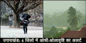 चमोली: WEATHER FORECAST IN UTTARAKHAND FOUR DISTRICTS