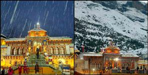 snowfall in chardham of uttarakhand latest images