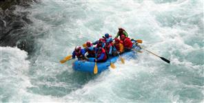 River rafting begins in Rishikesh