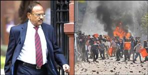 Nsa ajit dobhal review security situation in different parts of delhi