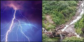 A death due to lightning in Tehri Garhwal