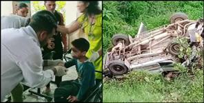 k: road accident in tehri garhwal many students died