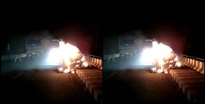 paurigarhwal news : Car fire in Kotdwar