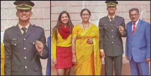 Vivek singh khati became lieutenant in the Indian army