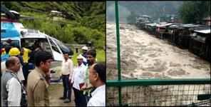 flood in uttarkashi 17 people cloud birst un uttarkashi