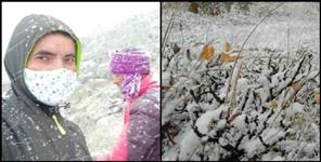 Snowfall in high altitude areas of Uttarakhand