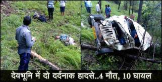 ऋषिकेश: Two road accident in uttarakhand