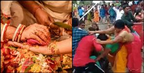 haridwar news chaos between groom and bride family in marriage