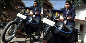 11 year old boy invented an air bike
