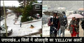 yellow alert for uttarakhand
