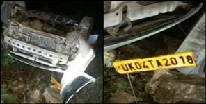 Woman die due to car fall in ditch
