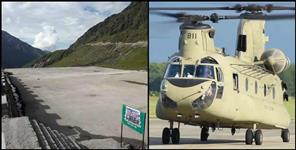 Helipad ready for Chinook helicopter in Kedarnath